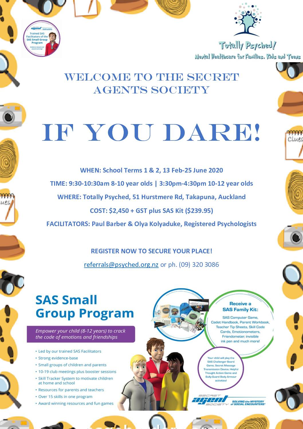 Has your child got Secret Agent potential??? | Totally Psyched